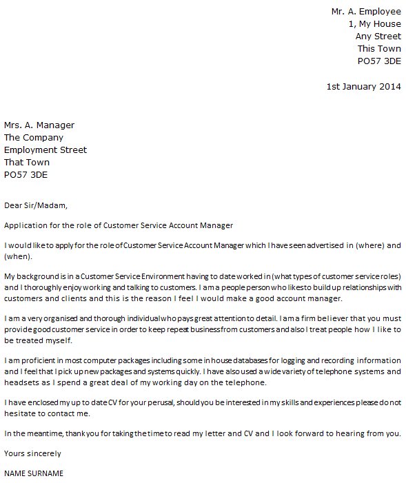 customer service account manager cover letter example - Account Director Cover Letter