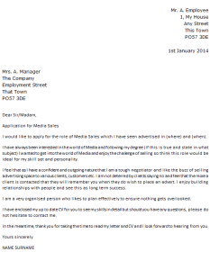 media sales cover letter