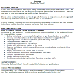 Care Assistant CV Example