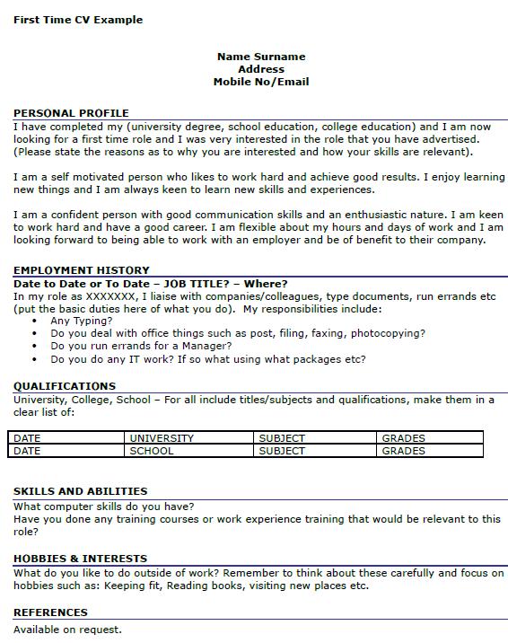 Resume Job Format Biodata For Job Sample