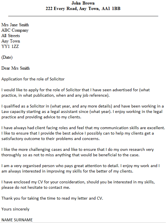 Sample Cover Letter Intellectual Property Attorney