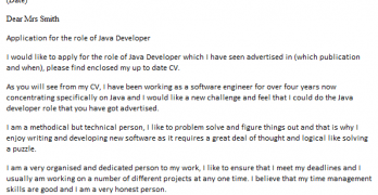 Cover letter quant developer