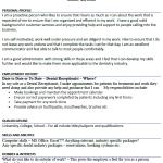 Dental Receptionist CV Example