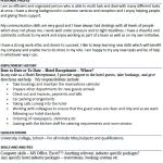 Hotel Receptionist CV Example