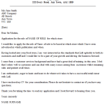 Lidl Cover Letter Example