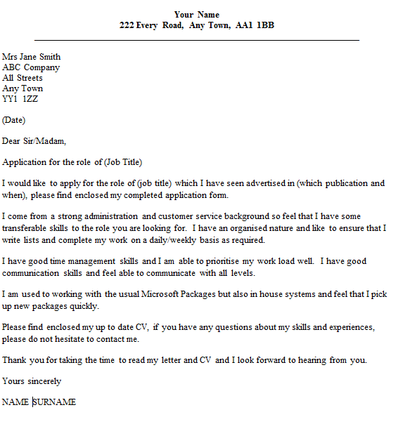 council job application cover letter example