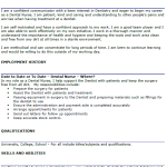 Dental Nurse CV Example