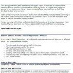Retail Supervisor CV Example