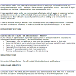 IT Administrator CV Example