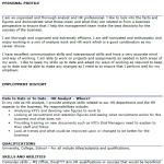 HR Analyst CV Example
