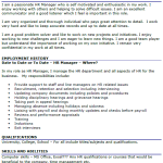 HR Manager CV Example