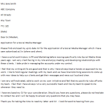 Social Media Manager Cover Letter Example