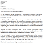 ICT Support Analyst Cover Letter Example