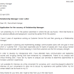 Relationship Manager Cover Letter Example