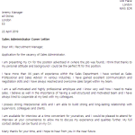 Sales Administrator Cover Letter Example