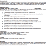 Nurse Manager CV Example