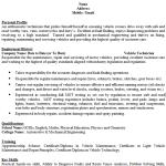 Vehicle Technician CV Example