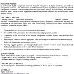 Financial Assistant CV Example