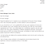 Nurse Manager Cover Letter Example