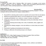 Marketing Officer CV Example