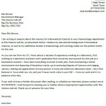 Biomedical Scientist Cover Letter Example