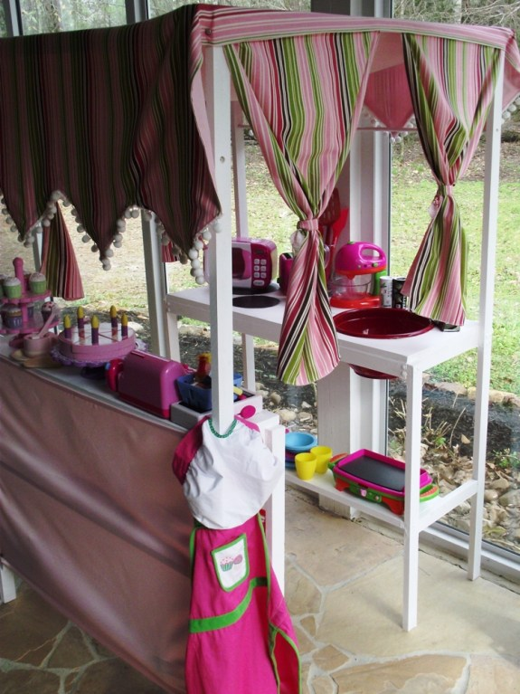 Handmade Kitchen Canopy and Curtains