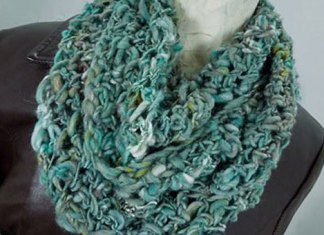 Heaven-Spun-Creations-Teal-Crocheted-Infinity-Scarf