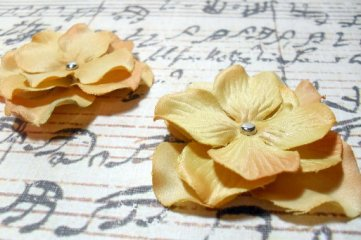 2 in. Artificial Silk Flower - 2 pc Craft Embellishment