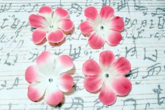 2 in. Artificial Silk Flower - 4 pc Craft Embellishment