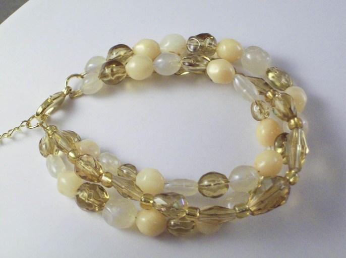 3 strand acrylic bracelet