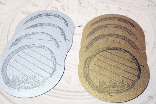 6pc Silver Gold Metalic Explore Hand Stamped Journaling Circle Tags