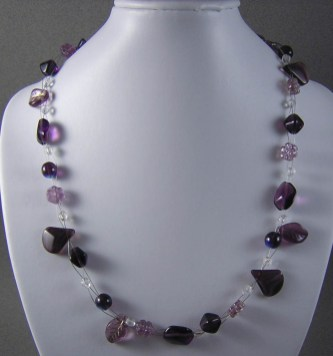 Floating Amethyst Necklace