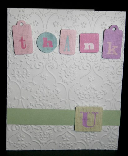 Thank you tag card
