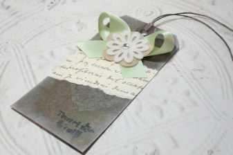 Travel the World Distressed Altered Luggage Style Tag