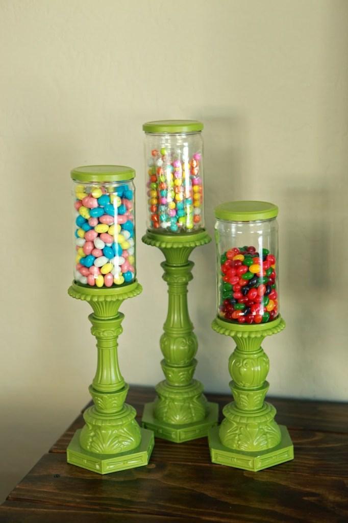 Mason Jar Candy Pedestol