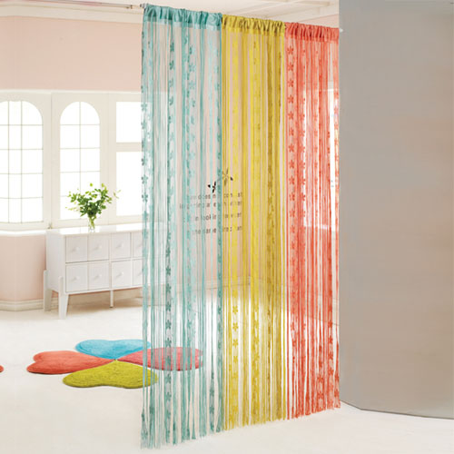 Colorful Curtain Divider