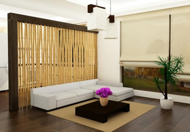 Wall of Bamboo Divider