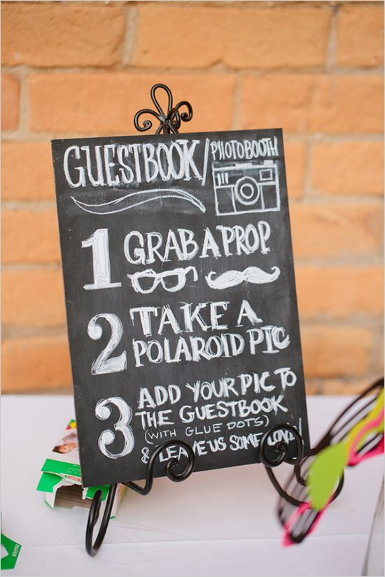 Chalkboard Photobooth Sign