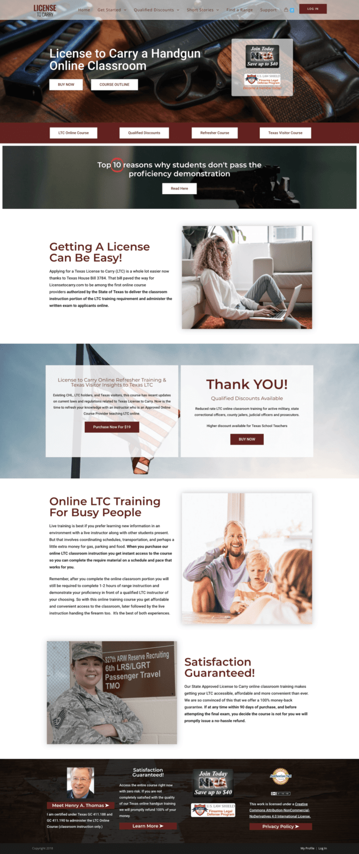 gun website design
