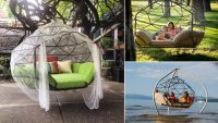 Beautiful Shape Hanging Hammock Sofa