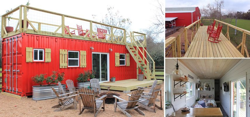 the perfectly designed tiny home in the shipping container 1