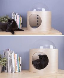 Unique Pet Furniture Spaceship-inspired Cat Beds - Icreatived