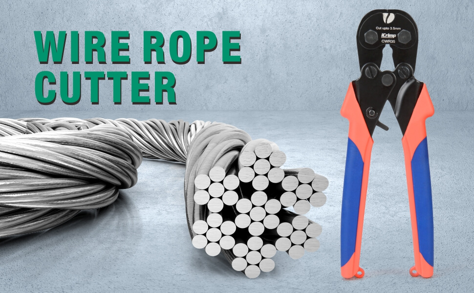 iCrimp wire rope cutter CWR35 banner