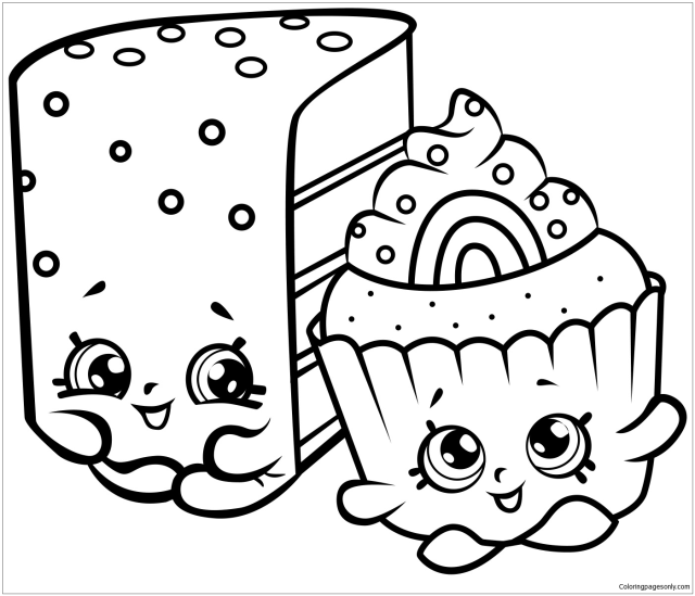 Free printable Shopkins coloring pages for kids and adults of all