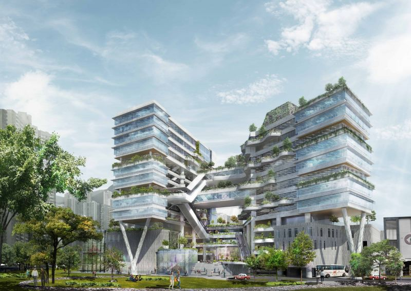 Ronald Lu & Partners-社區為本的綠色雙塔 香港高等科技教育學院-欣建築-欣傳媒建築設計頻道