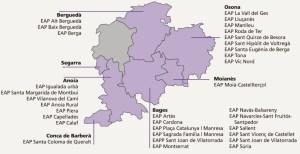 Equips d'atenció primària de l'ICS a la Catalunya Central a l'Anoia, Bages, Berguedà, Moianès i Osona
