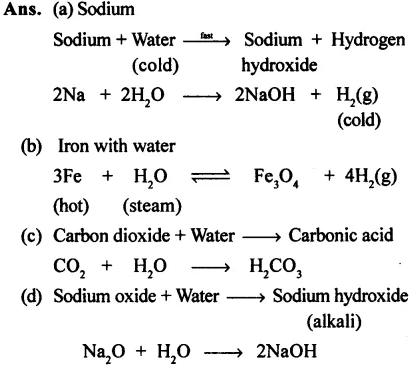 Water ICSE Class-8th Concise Selina Chemistry Solutions