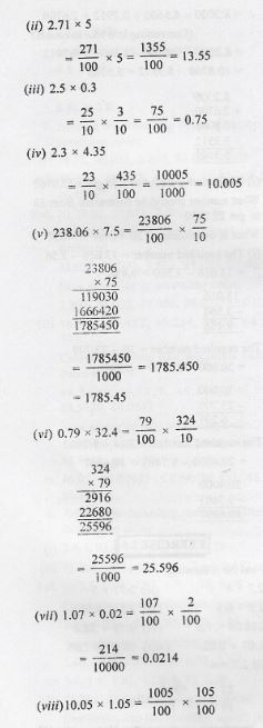 Fractions and Decimals ML Aggarwal Class-7 ICSE APC
