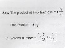 Fractions ICSE Class-7th RS Aggarwal Maths Goyal Brothers