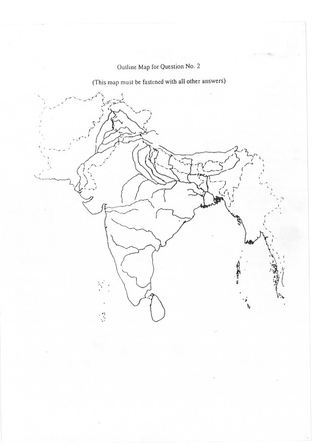 ICSE Geography: Sample India Map Outline